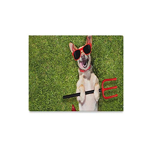 JTMOVING Wall Art Painting Chihuahua Dog Ghost Halloween Scary Spooky Prints On Canvas The Picture Landscape Pictures Oil for Home Modern Decoration Print Decor for Living Room