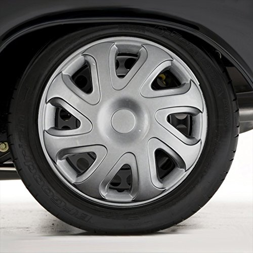 Upgrade Your Auto Set of Four 14' Silver Hubcap Wheel Covers for 2000-02 Toyota Corolla (Push-on)