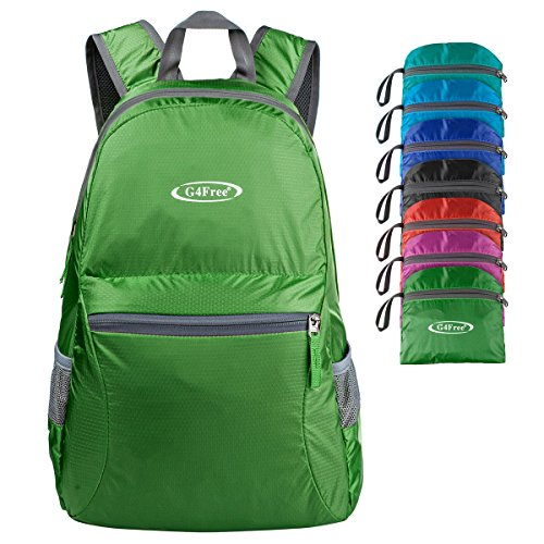 G4Free Ultra Lightweight Packable Backpack Hiking Daypack,Handy Foldable Camping Outdoor Backpack(Army Green)