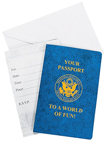 Passport Fun Invitations Envelopes Paper