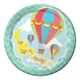 Creative Converting Up, Up & Away 7-Inch Lunch Plates (8 Count)