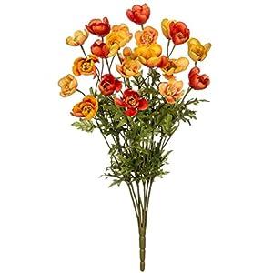 Sullivans Poppy Bush Artificial Orange Flower Home Decor 110