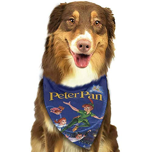 Custom Made Dog Bandanas, Triangle Bibs Printing Dog Kerchief Set-Disney Movie VHS Covers Pattern Printing Colorful]()