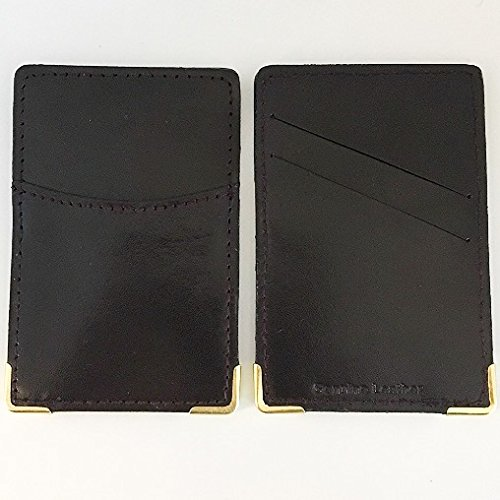 Social Security Card Holder Protector - Leather Cover Case for Business, Hunting Licenses and Certificates - Pack of 2 (Circa Vintage Suit)