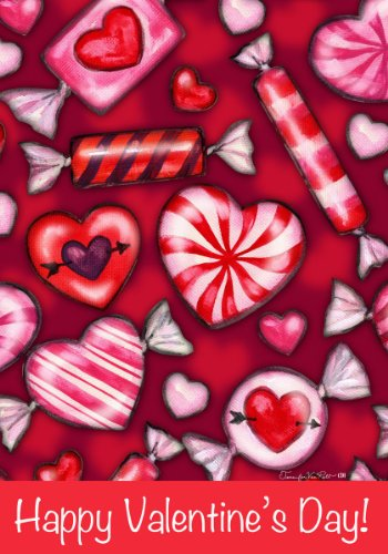 Valentines-Candy-Happy-Valentines-Day-Double-Sided-GARDEN-Size-Decorative-Flag-12-X-18-Inches