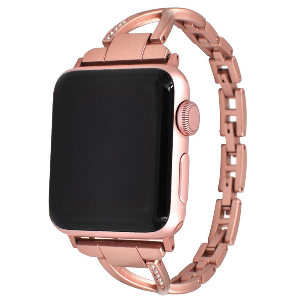 38/42mm X Shape Stainless Steel Adjustable Band for Apple Watch Strap Apple Watch Band Mens, Replacement Wrist Bracelet