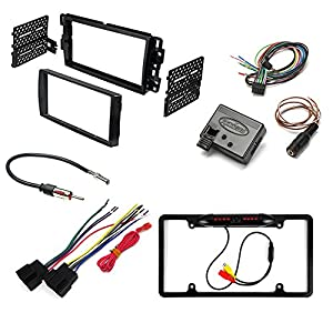 GM MOTORS VEHICLES ( SELECT MODELS ) AFTEMARKET CAR STEREO INSTALL KIT DASH MOUNTING KIT + RADIO HARNESS + RADIO ANTENNA ADAPTER + REAR VIEW CAMERA + STEERING WHEEL INTERFACE