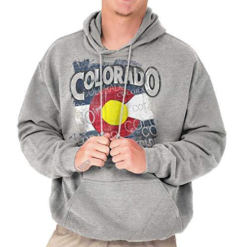 - CO State Flag Colorado Souvenir State Pride Hoodie Sport Grey