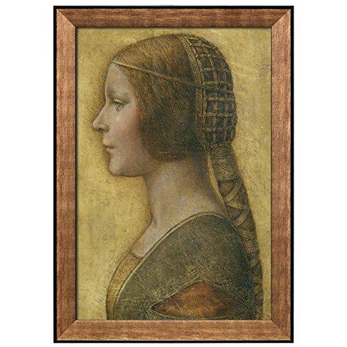 Portrait of a Young Fiancée by Leonardo Da Vinci Framed Art