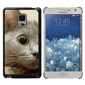 TopCaseStore / la caja del caucho duro de la cubierta de protección de la piel - Nebelung Kitten Eye Cat Russian Blue - Samsung Galaxy Mega 5.8 9150 9152