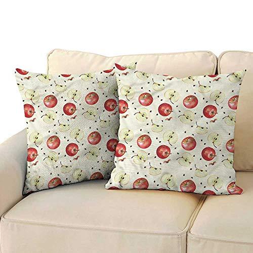 Apple Creative Pillowcase Seeds of Winter Fruits with Hidden Zipper W14 x L14