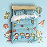 Beauty Decor Bedding 4 Piece bed Set Duvet Cover,childrens 4 Piece Bed Sheet Set 1 Flat Sheet 1 Fitted Sheet and 27 Pillow Cases