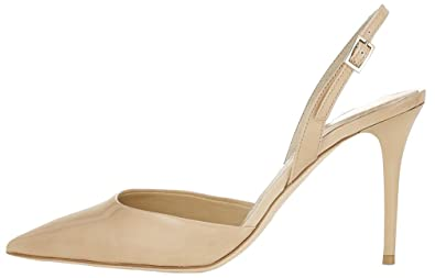Calaier Femme Cawish 8CM Aiguille Boucle Sandales Chaussures, violet, 34.5