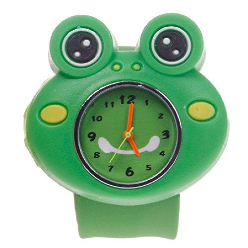 Eachbid Smart Applied Frog Cute Cartoon Children Kid Quartz Sports Bendable Rubber Strap Wrist (Bendable Frog)