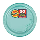 Amscan Robin's Egg Blue Paper Plate Big Party Pack, 50 Ct.