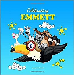 Celebrating emmett personalized baby books personalized baby celebrating emmett personalized baby books personalized baby gifts personalized childrens books baby books baby shower gifts suzanne marshall negle Choice Image