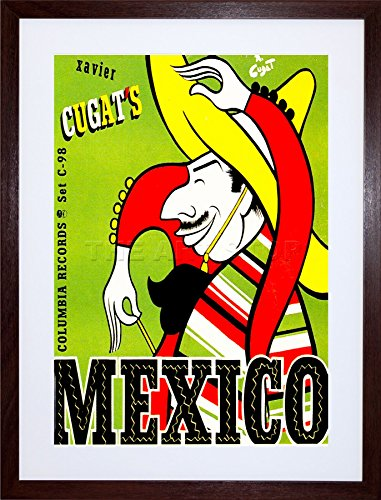 The Art Stop Music Xavier CUGATS Mexico Mexican Sombrero Guitar Frame Print Picture F12X598