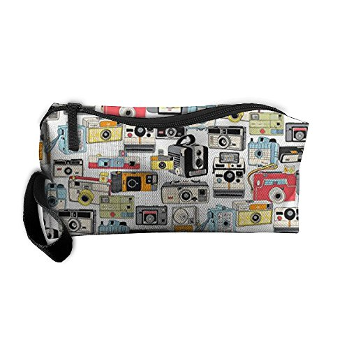 Make It Snappy! Vintage Camera Illustrations Analog Photography Film Pen Bag Pouch Coin Purse Cosmetic Makeup Bag