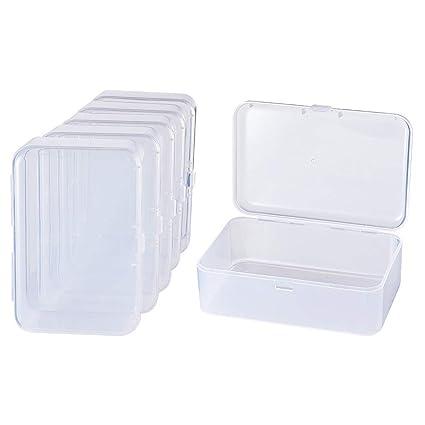 BENECREAT 12 Pack Mini Caja de Contenedores de Almacenamiento de Cuentas de Plástico Transparente con Tapa