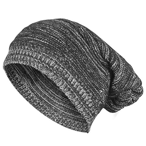 Bodvera Knit Winter Hat Warm Chunky Soft Stretch Cable Slouchy Beanie Skully - Celebrities Skiing