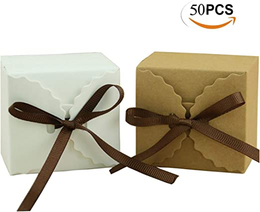 Mengger Cajas para Dulces Regalos Cajita Paper Kraft Carton ...