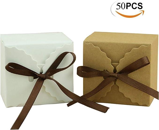 Mengger Cajas para Dulces Regalos Cajita Paper Kraft Carton Bombones Caramelos Navidad Boda Cumpleaños Fiesta ...