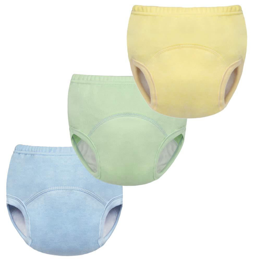 BINIDUCKLING Baby Boys Potty Training Pants Reusable 6 Layers Underwear 3 Pack, 5T HSBINI-XR075-B-5T
