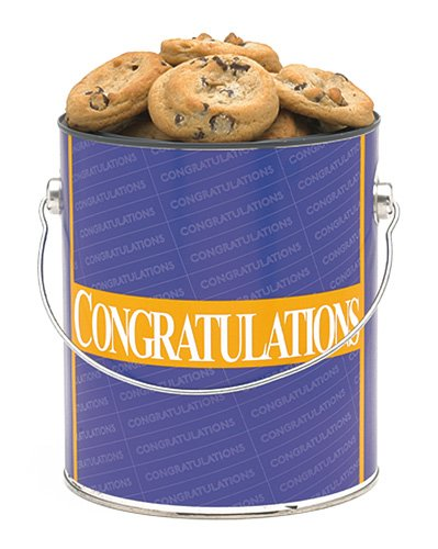 Congratulations Cookie Gallon - Chocolate Chip Baked Fresh by Apple Cookie & Chocolate Co