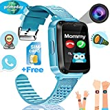 "[Speedtalk SIM Included] Kid Smart Watch Tracker Game Watch Phone, ONMet Kid Calling Smartwatch with Camera 1.54""Touch Educational Toys Wrist Watch Summer Outdoor Holiday Gifts Sport Watch"
