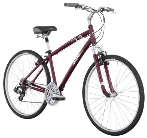 Amazon Com Diamondback Edgewood Lx Mens Sport Hybrid Bike 700c