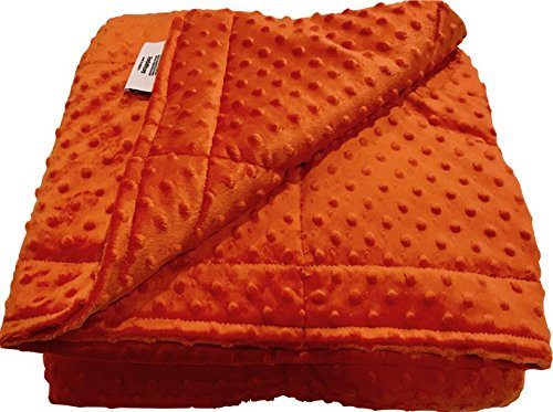 Ultra-Soft Orange Minky Weighted Sensory Blanket -5lb 30x40
