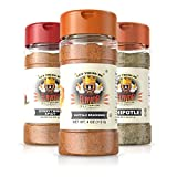 Flavor God #1 Best-Selling Seasonings Ring of Fire BBQ Combo Edition, Gluten Free, Low Sodium, Paleo, Vegan, No MSG 5oz. (3 Bottles)