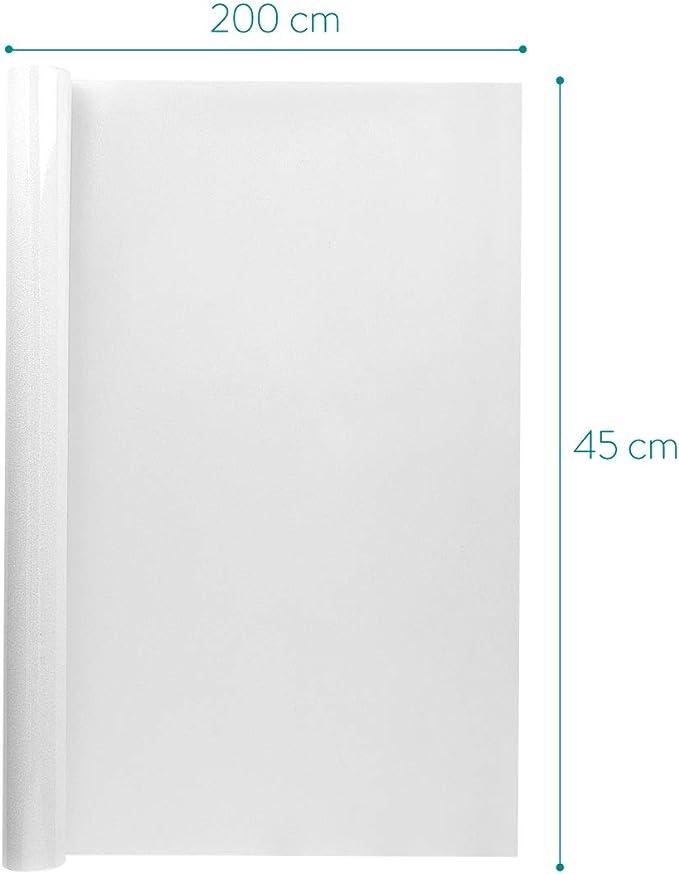 selbstklebend mit statischer Haftung Navaris Fenster Milchglasfolie 45x200cm Milchglas Klebefolie K/üche Bad Dusche T/ür B/üro lichtdurchl/ässig