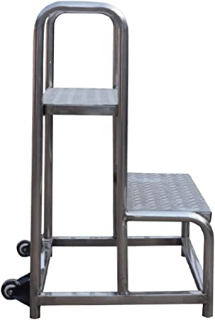 JB-TD Escalera Ascendente De Almacén Plataforma Móvil De 2 Pasos Escalera De Escalón De Supermercado Escalera De Estantería De Almacén Acabado del Taburete De Carga Carro De Descarga: Amazon.es: Hogar