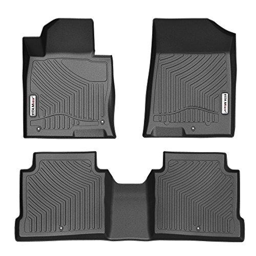 - YITAMOTOR Waterproof Floor Mats Compatible for 2016-2018 Kia Optima / 15-18 Hyundai Sonata, All Weather Heavy Duty Floor Liners for Car - Black