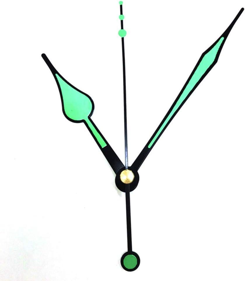 DOITOOL 1 pi/èces silencieux Mouvement dhorloge e Quartz m/écanisme horloge silencieux kits dhorloge murale m/écanisme pi/èces avec 3 mains fluorescentes sans batterie noir