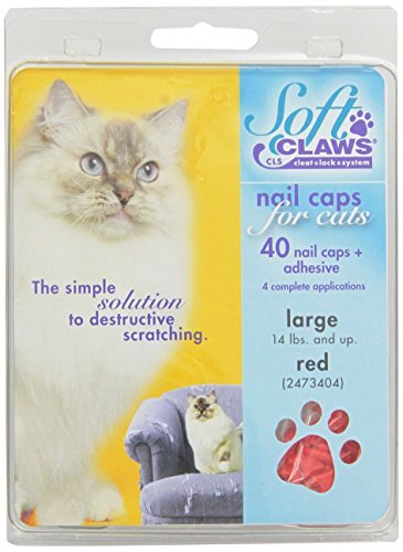 Feline Soft Claws Nail Caps Large Red by Soft Claws