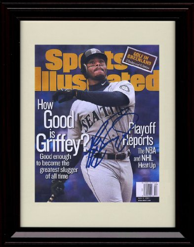 Framed Ken Griffey Jr Sports Illustrated Autograph Replica (Framed Ken)