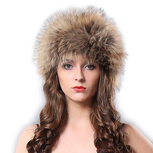 Winter Fox Fur Hat Headband - Women's Genuine Wrap Cap Neckwarmer FURTALK - To How Check Size Hat