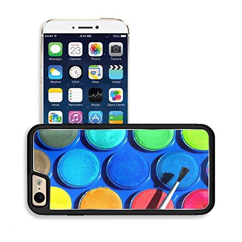 Luxlady Premium Apple iPhone 6 iPhone 6S Aluminium Snap Case Watercolors paint box and brushe IMAGE ID 27579653