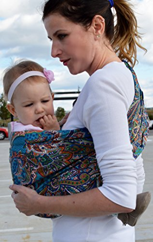 Lite-on-Shoulder Baby Sling Ergonomic, 100% Cotton, Adjustable Baby Carrier by RosyBaby