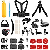 AKASO Outdoor Sports Action Camera Accessories Kit 14 in 1 for EK7000/EK7000 Plus/Brave 4/V50/V50 Pro/CAMPARK/Go Pro Hero 5 in Swimming Any Other Outdoor Sports