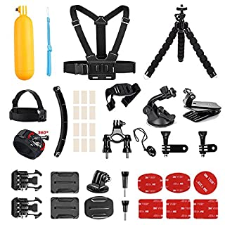 AKASO Outdoor Sports Action Camera Accessories Kit 14 in 1 for AKASO EK7000/ EK7000 Plus/ EK7000 Pro/Brave 4/ V50/ V50 Pro/ V50 Elite/CAMPARK/Go Pro Hero 5 in Swimming Any Other Outdoor Sports