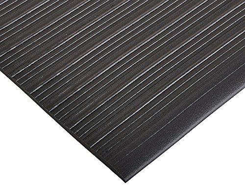 Bertech Anti Fatigue Vinyl Foam Floor Mat, 3' Wide x 20' Long x 3/8'' Thick, Ribbed Pattern, Black (Made in USA) by Bertech (Image #3)