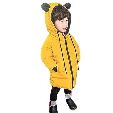 8e5c659c07841 Regoss (レジス) 子供 ダウンコート ダウンジャケット 中綿ジャケット 女の子 男の子 可愛いクマ 帽子