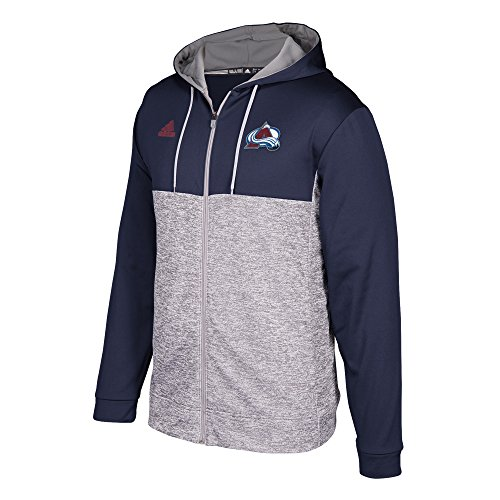 adidas NHL Colorado Avalanche Mens Authentic Full Zip Hoodauthentic Full Zip Hood, Graphite, XX-Large