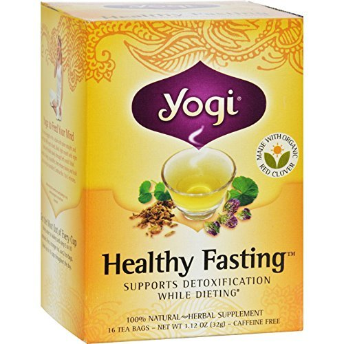 Yogi Healthy Fasting, Herbal Tea Supplement, 16-Count Tea Bags (Pack of 6) ( Value Bulk Multi-pack) by YOGI