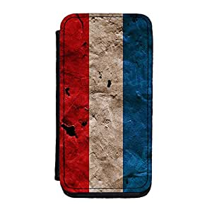 Grunge Paper Flag of Luxembourg - Letzebuerger Fandel - Flagge Luxemburgs Premium Faux PU Leather Case, Protective Hard Cover Flip Case for iPhone 5C by UltraFlags