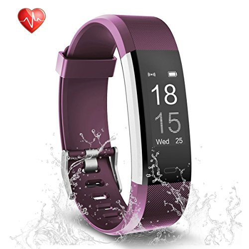 Fitness Tracker - Semaco Heart Rate Monitor Waterproof Activity Health Tracker Bluetooth Wireless Smart Bracelet with Pedometer Sleep Monitor Step Calorie Counter Activity Wristband (purple)