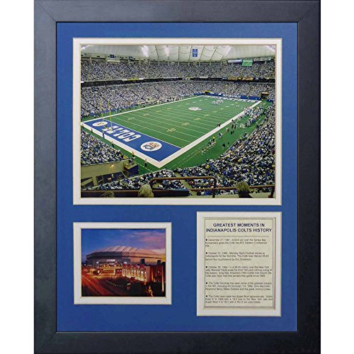 OKSLO Legends Never Die Indianapolis Colts RCA Dome Framed Photo Collage, 11 x -